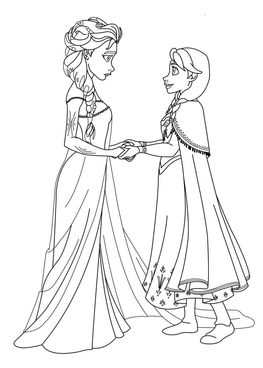 download princesa frozen para pintar clipart elsa anna minnie mouse