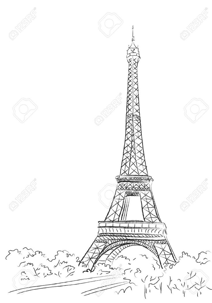 Clipart resolution 736*1052 - paris background drawing clipart ...