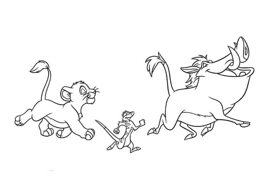 Download timon y pumba para colorear clipart Nala Simba Pumbaa