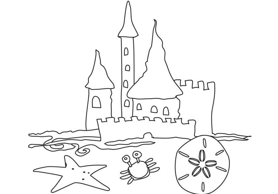 sand castle coloring pages clipart Coloring book Colouring Pages Castle