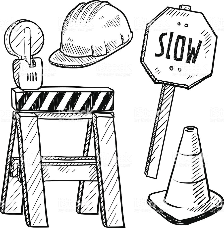 Download construction tools coloring pages clipart Coloring book ...