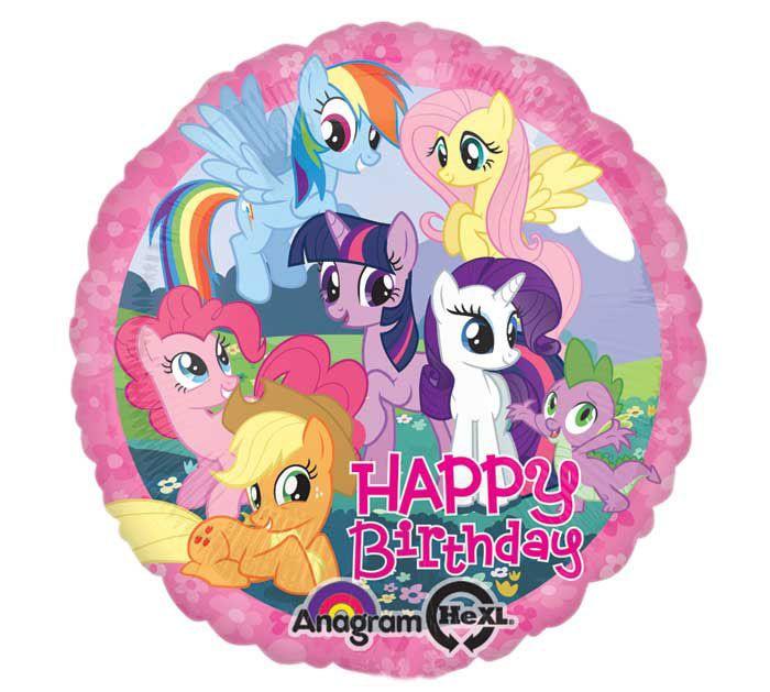 Little Pony Birthday Clipart Balloon Pinkie Pie