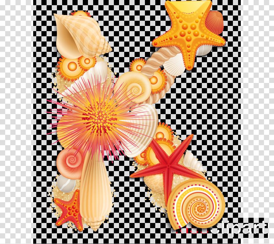 Alphabet clipart Alphabet Letter Seashell