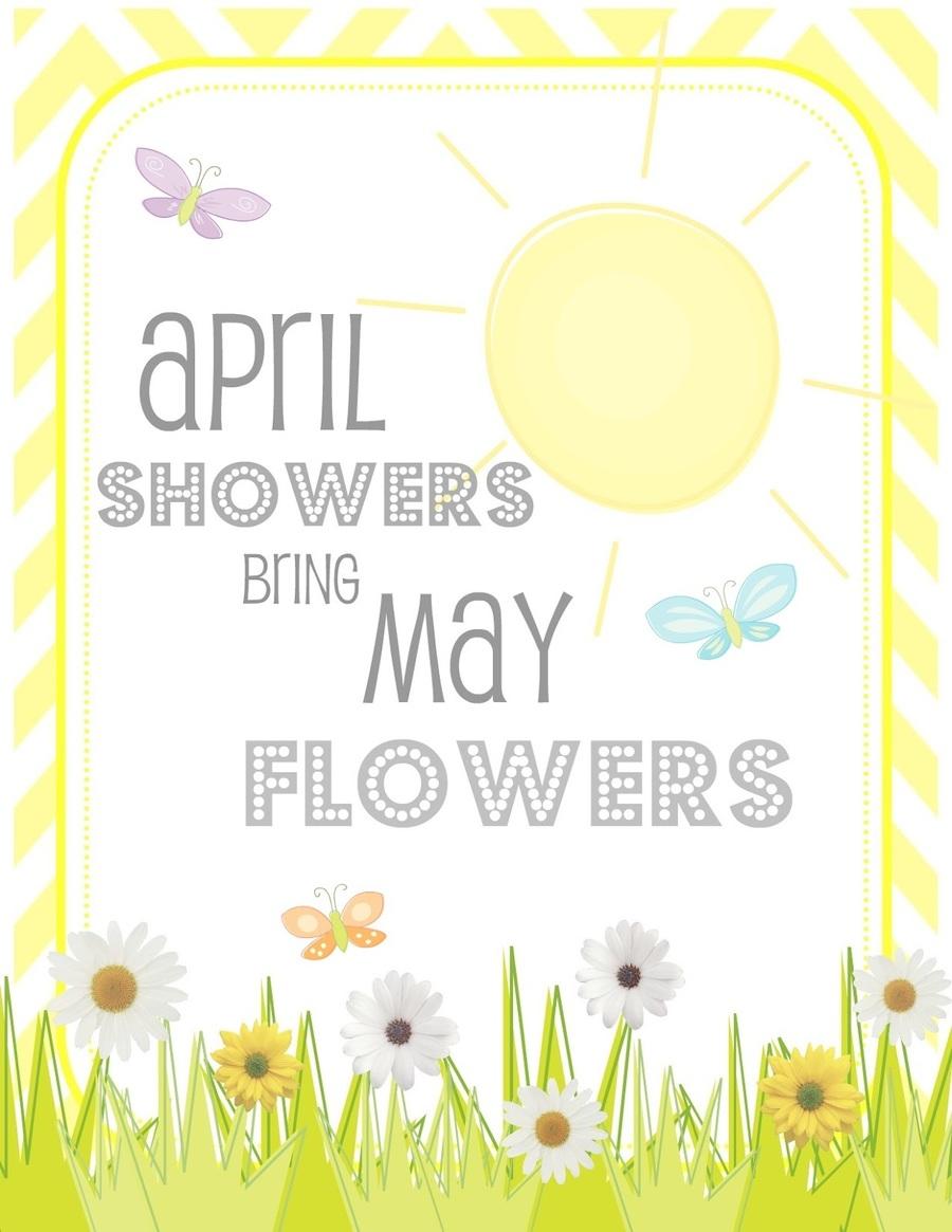 Download April Spring Flowers Clipart April Shower Flower Floral