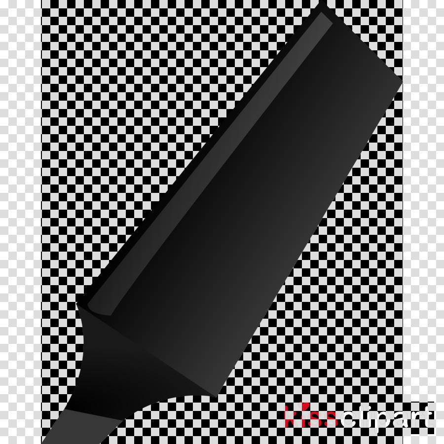 black highlighter pen clipart Paper Highlighter Marker pen
