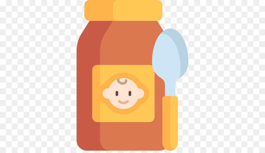 Baby food. Background clipart orange yellow