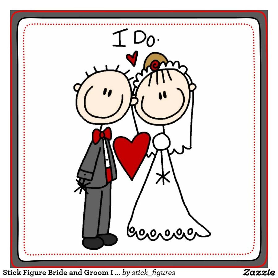 download bride and groom stick figures clipart wedding invitation
