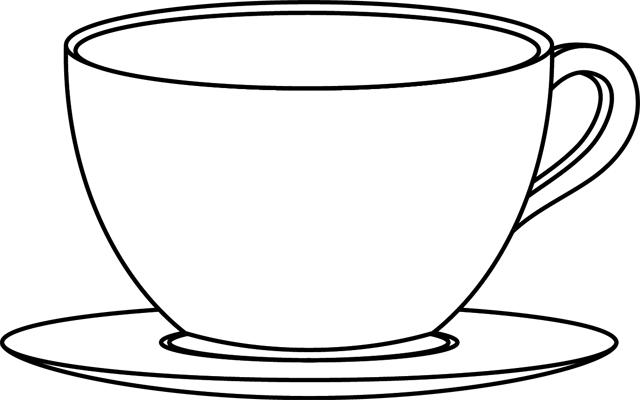 Картинки чашки для раскраски