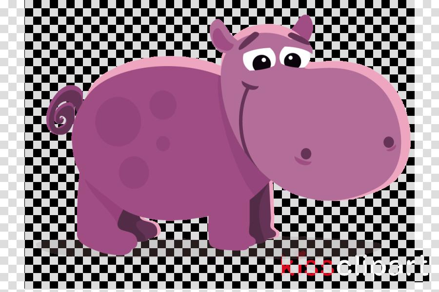 purple hippo clipart Hippopotamus Clip art