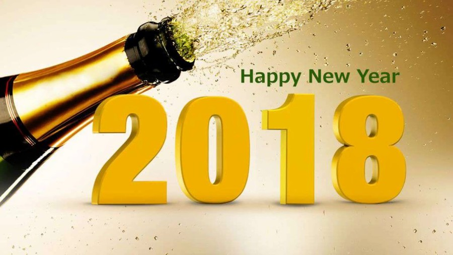 happy new year 2018 clipart champagne desktop wallpaper 4k resolution