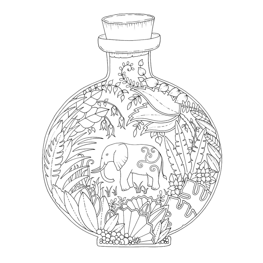download johanna basford coloring pages clipart magical jungle an inky expedition colouring book johannas christmas secret garden an inky treasure hunt