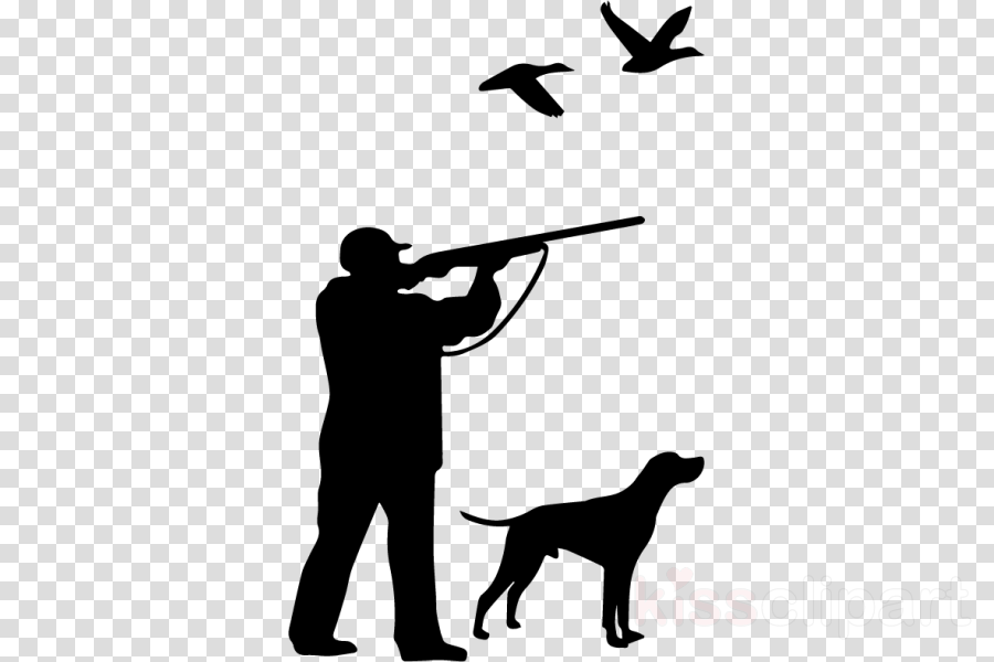 hunter with dog vector clipart Hunting dog