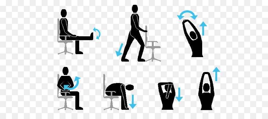 Fitness Cartoon Clipart Exercise Office Desk Transparent Clip Art
