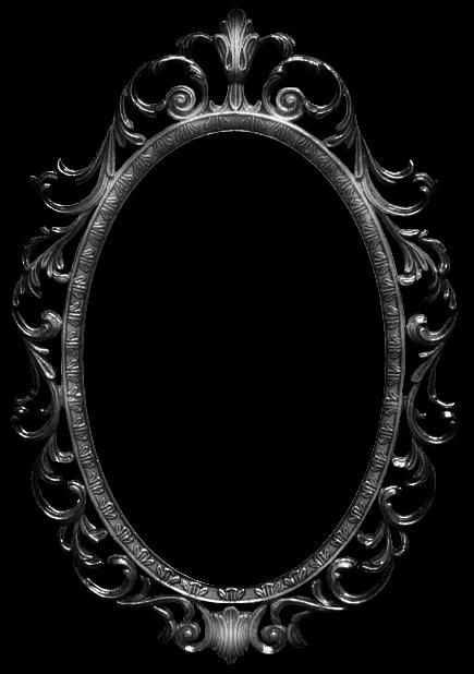 Mirror Circle Font Transpa Clip Art, Black And White Mirror Clipart