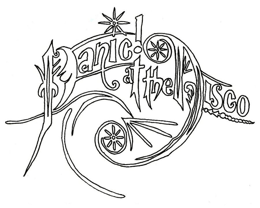 Download Panic At The Disco Coloring Pages Clipart Drawing Book