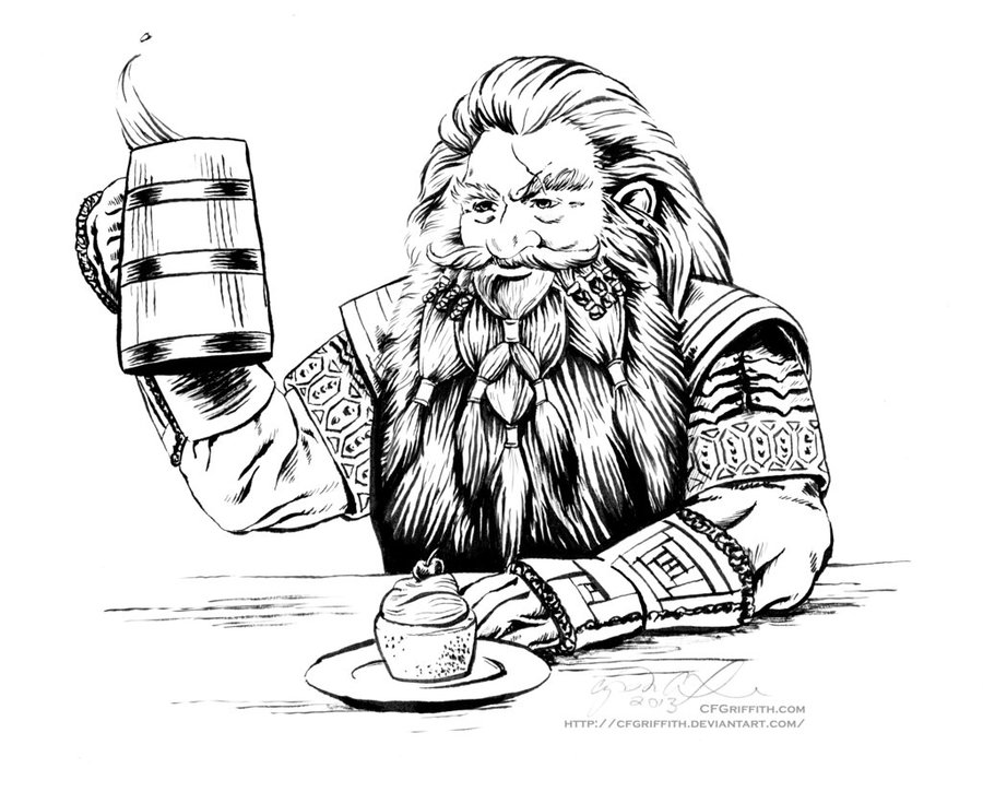 Download dwarves beard drawings clipart The Hobbit Gloin Thorin ...