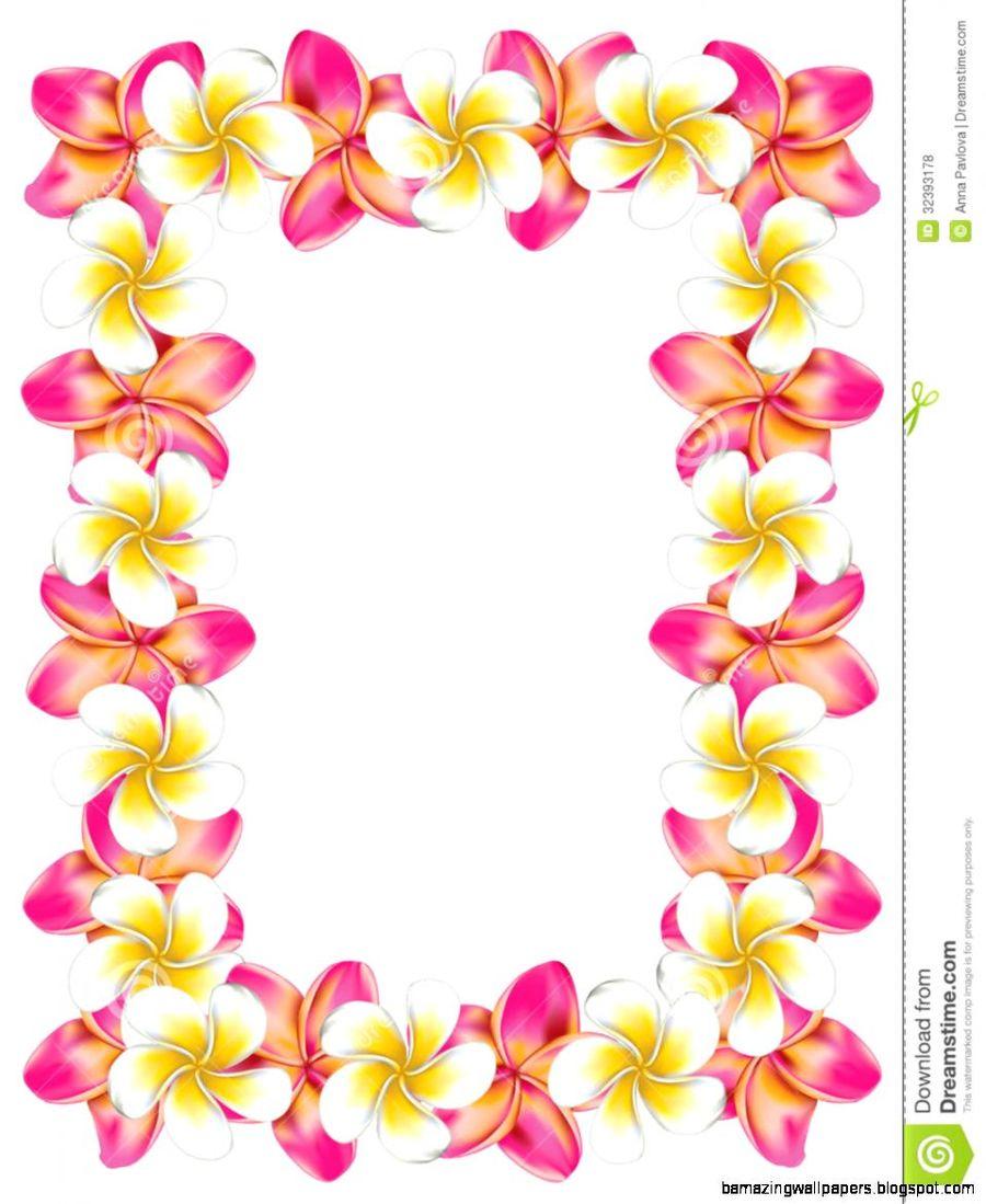 Download Hawaiian Flowers In A Border Clipart Hawaii Clip Art