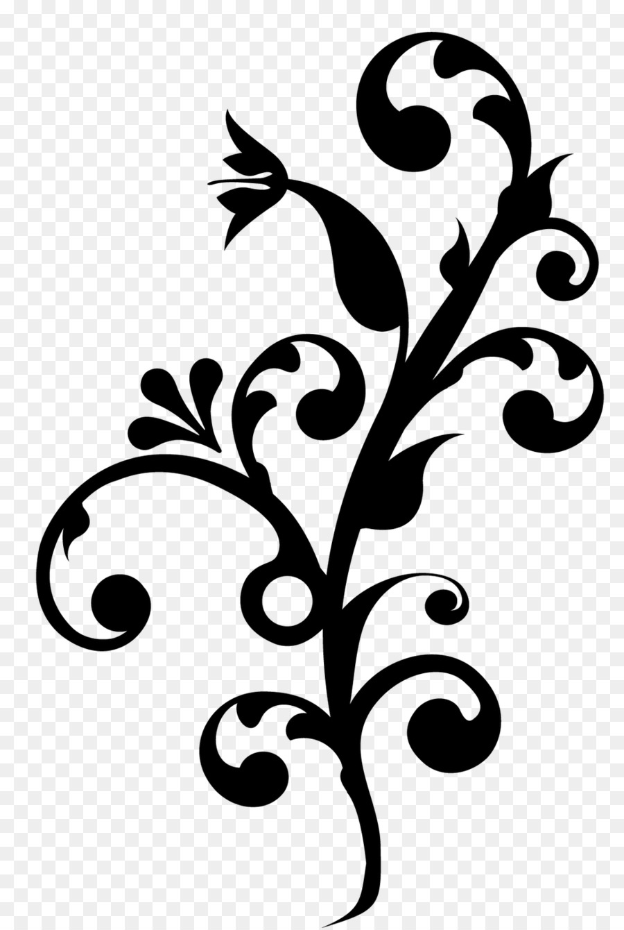 Black And White Flower clipart   Batik, Flower, Design ...