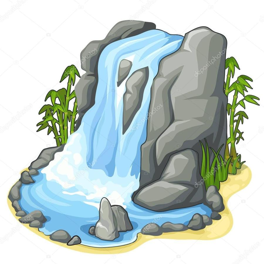 Download Waterfall Clipart Clip Art Drawing Lego 21134 Minecraft The Base