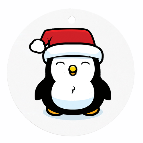 Christmas Pictures Cartoon.Drawing Christmas Tree Clipart Penguin Illustration