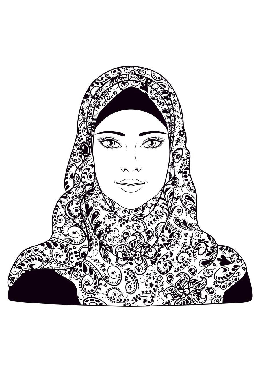 Download hijab black and white clipart hijab muslim hijab
