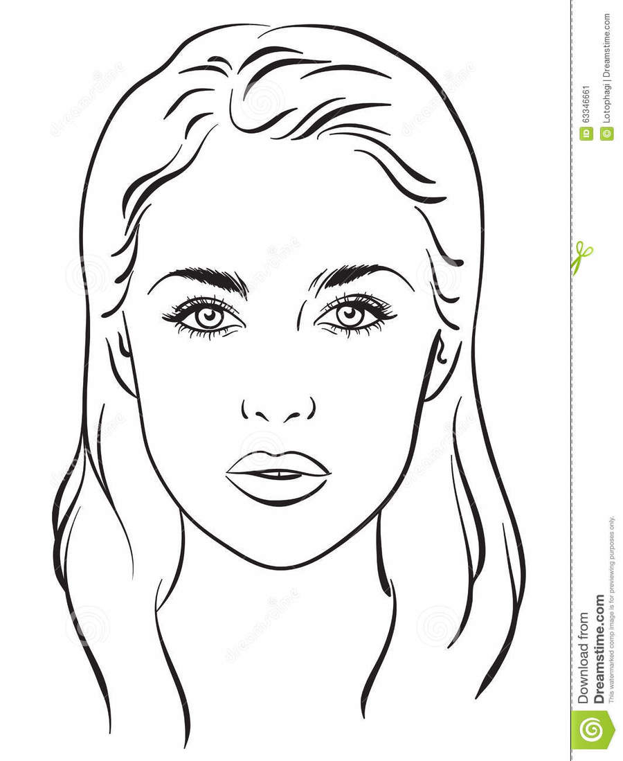 Download face chart template clipart makeup artist face charts download face chart template clipart makeup artist face charts maxwellsz