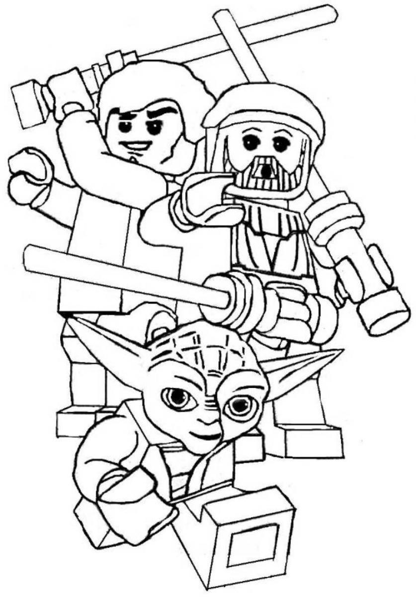 Download star wars lego coloring papers clipart Lego Star