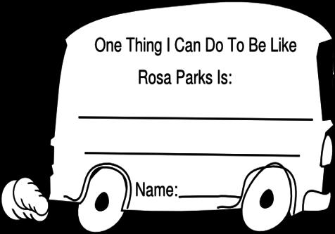 Download Rosa Parks Color Sheets Clipart Coloring Book Paper Black