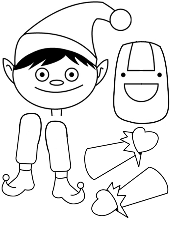 Download Christmas Elf Drawing Clipart Santa Claus The Elf On The Shelf