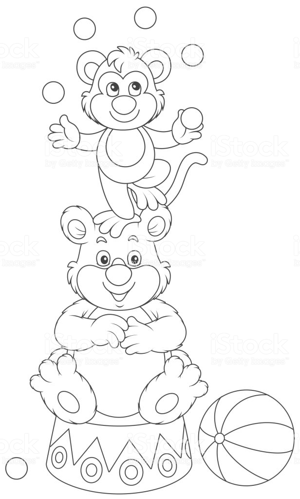 Clipart resolution 616*1024 - mono malabarista dibujo para colorear ...