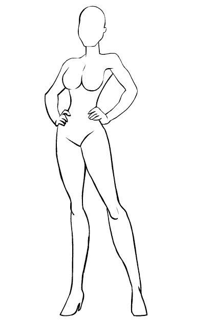 Clipart Resolution 416 625 Female Superhero Outline Clipart
