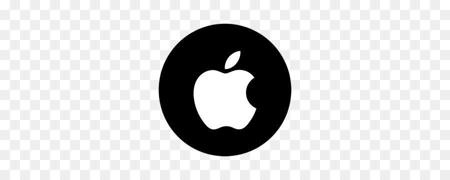 White Apple Logo Clipart Apple Black Font Transparent