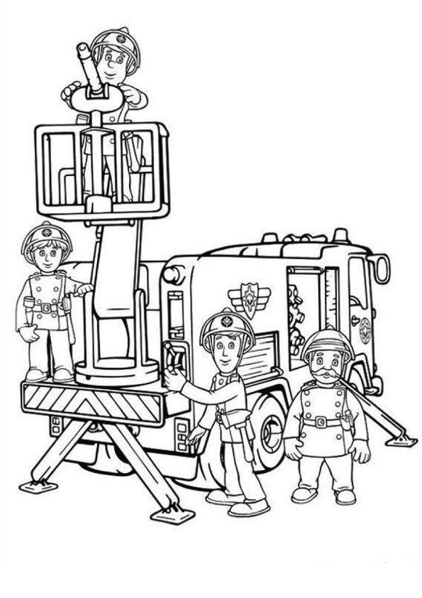 Download kleurplaat fireman sam clipart Firefighter Coloring Book ...