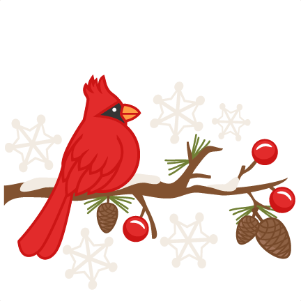 Christmas Cardinals Clipart.Christmas Tree Art Clipart Bird Tree Flower Transparent
