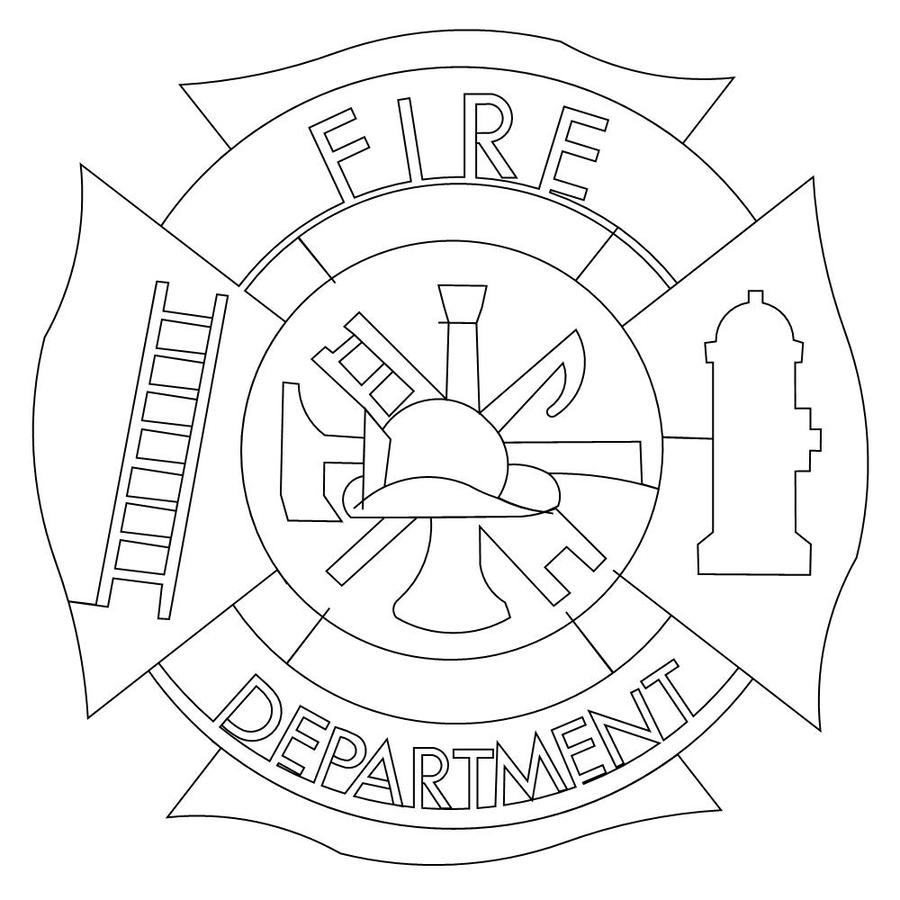 Download coloring pages fire department clipart Fireman, Fire ...