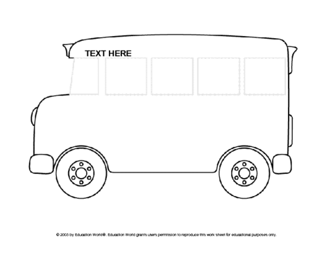 School Black And White Clipart Bus White Text Transparent