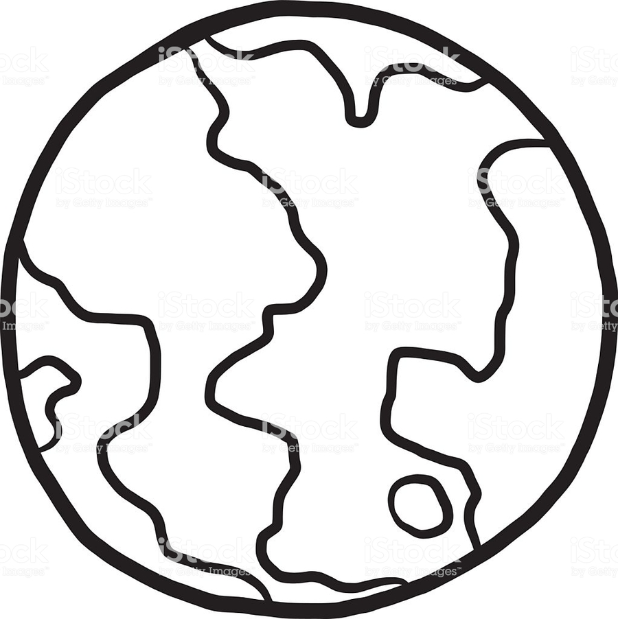 download earth cartoon black and white clipart earth clip art
