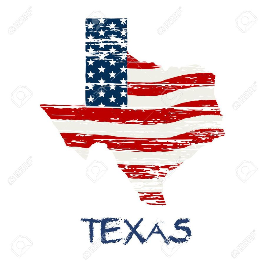 Texas Shape American Flag Clipart Of The United States