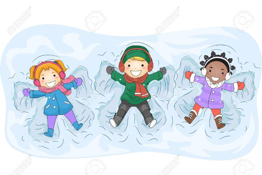 Download kids playing in snow clipart Snow angel Clip art ...