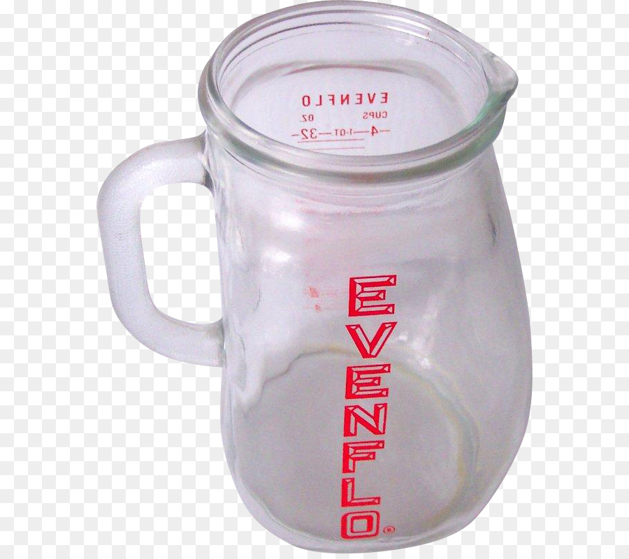 evenflo vintage glass pitcher infant formula pitcher 4 cup measurements circa 1950's mint clipart Mug Cup Glass