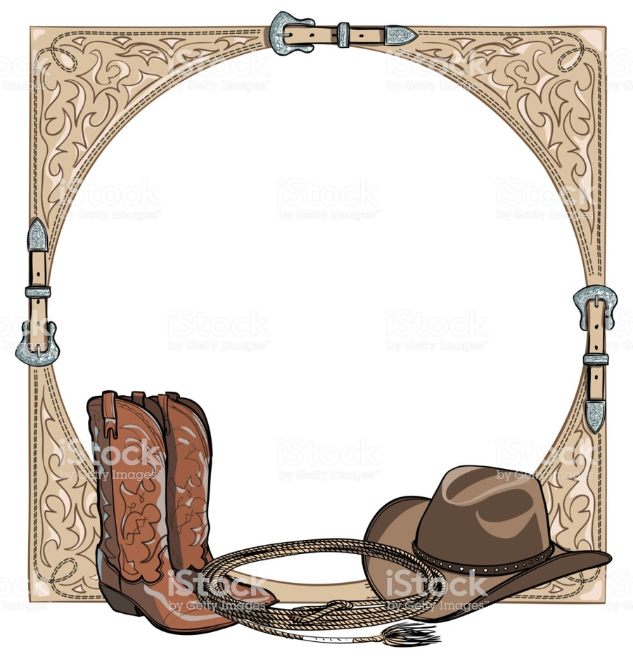 Download vector frame western clipart American frontier Horse ...
