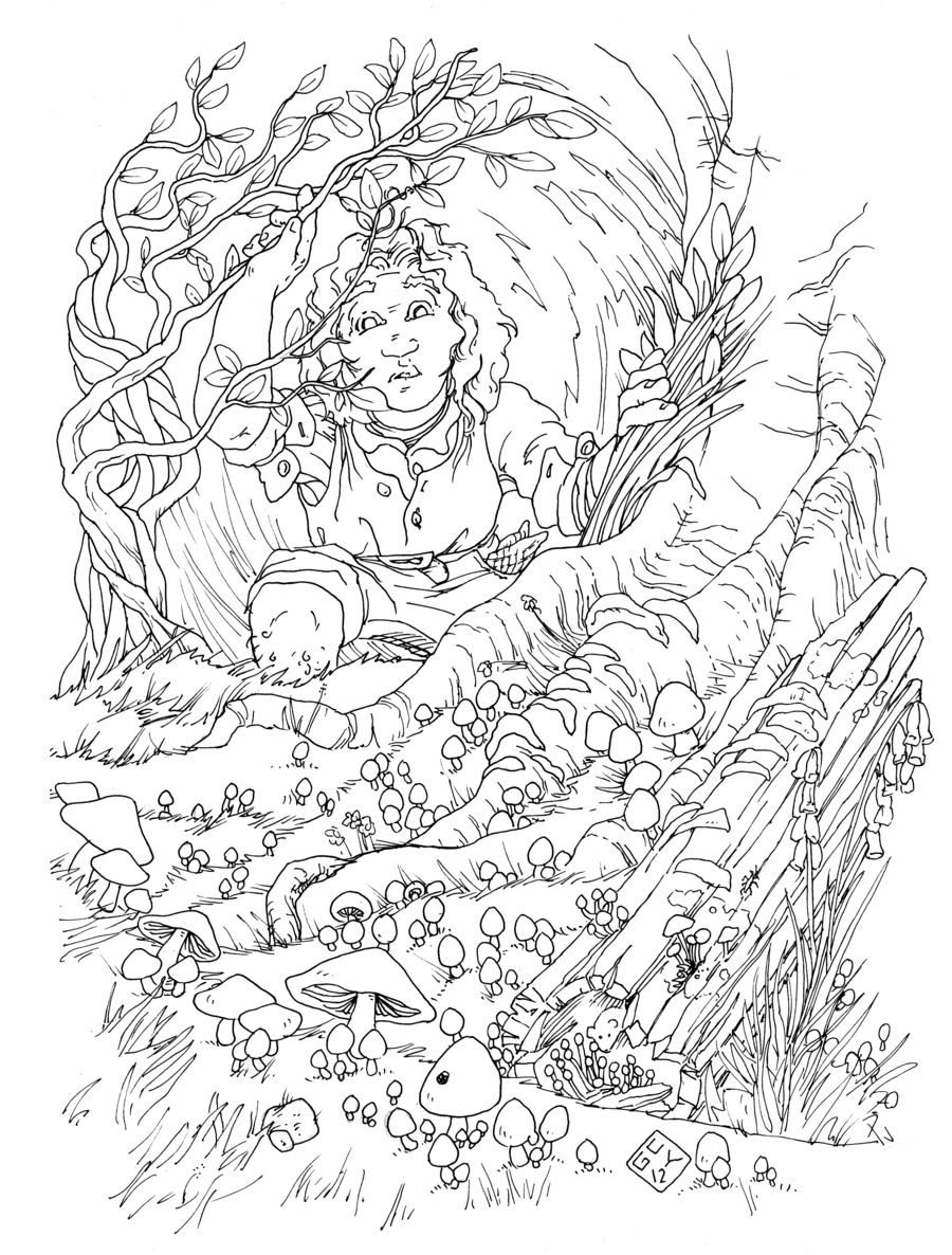 Hobbit Adult Coloring Pages Clipart Lego The Colouring