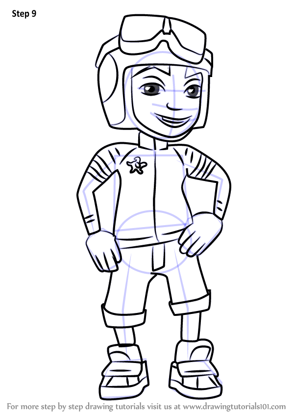 Download Coloring Book Clipart Coloring Book Drawing Subway Surfers