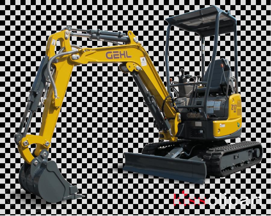compact excavator clipart Compact excavator Heavy Machinery