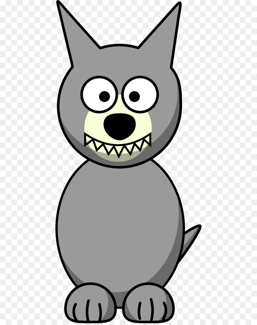 Wolf cartoon. Clipart drawing graphics transparent