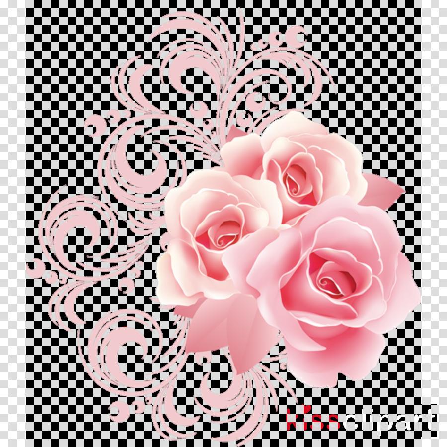 pink flower border clipart Rose Floral design Clip art