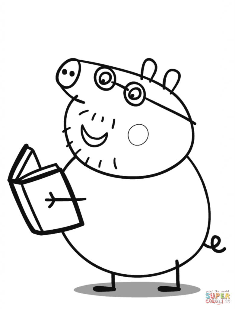 Peppa pig colouring pages clipart mummy pig george pig coloring book