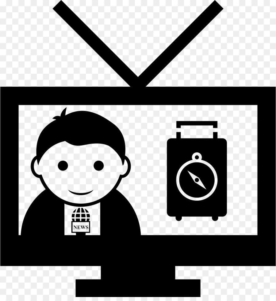 Tv news. Icon clipart television white