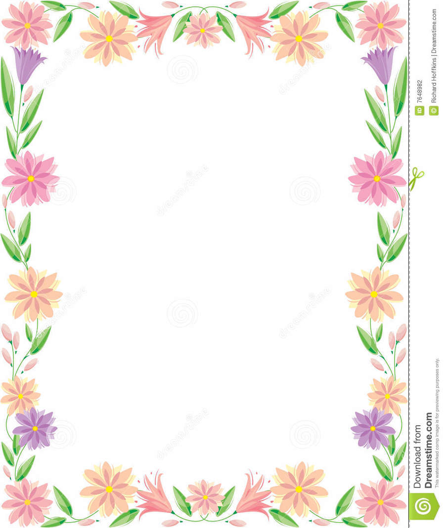 Flower Border Designs For Paper To Draw Flowers Healthy
