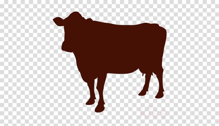 cows silhouette clipart Jersey cattle Clip art
